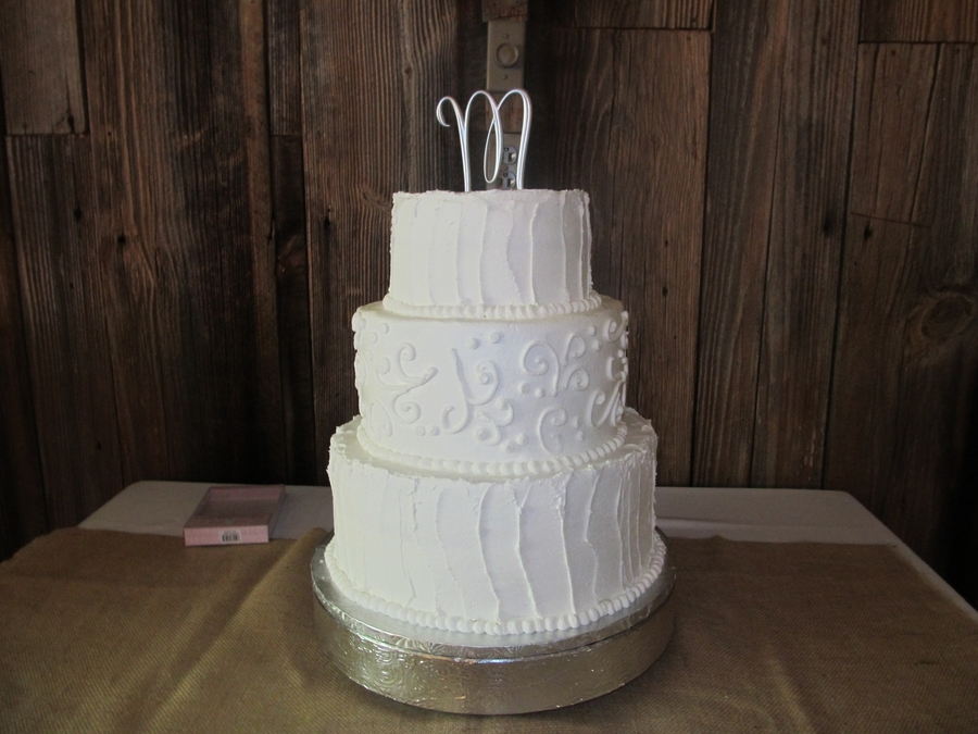 White And White on Cake Central
