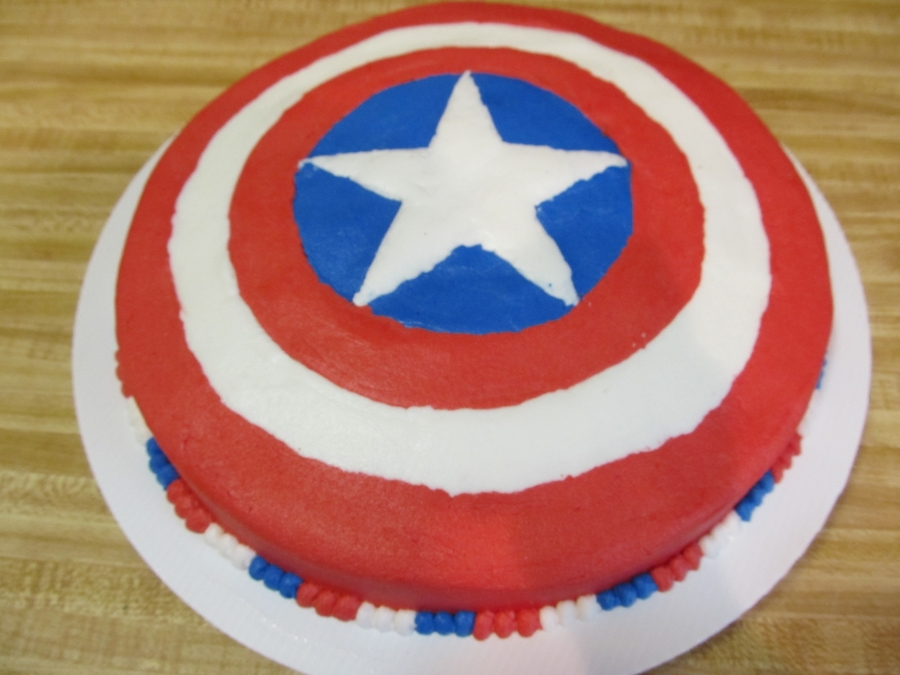 Captain America Shield on Cake Central
