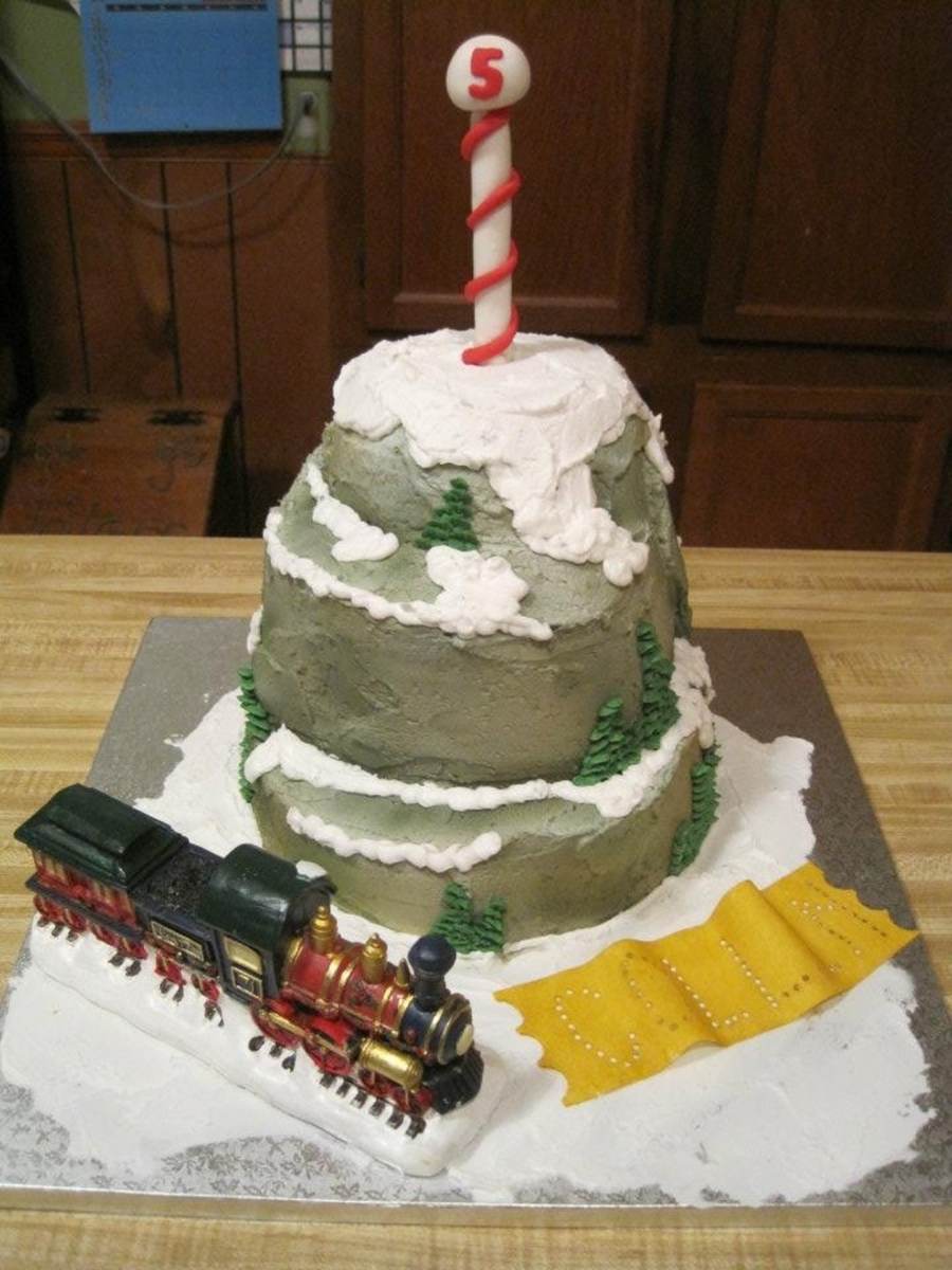 Polar Express Cake on Cake Central