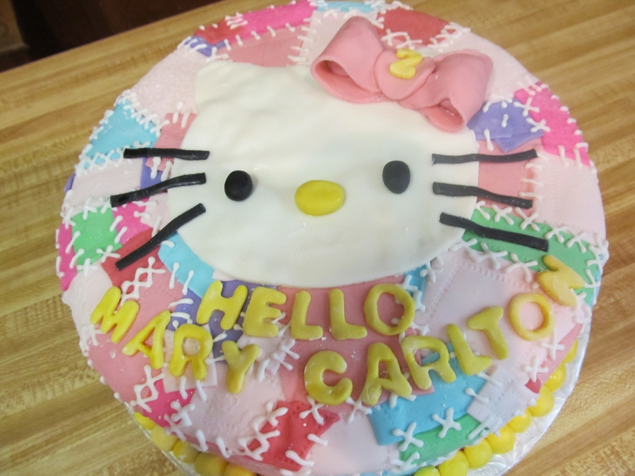 Patchwork Hello Kitty on Cake Central