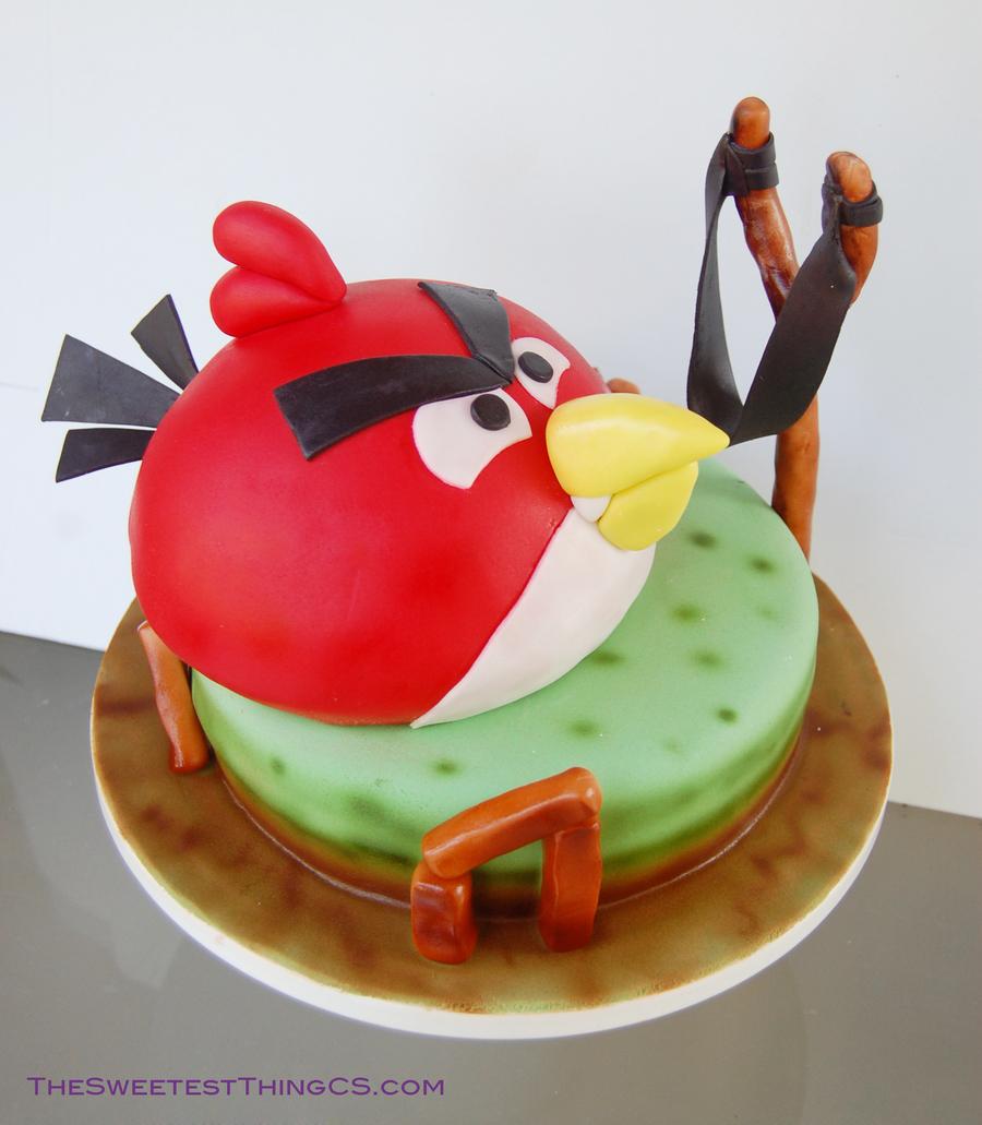 Peachy Angry Birds Birthday Cake Cakecentral Com Funny Birthday Cards Online Alyptdamsfinfo