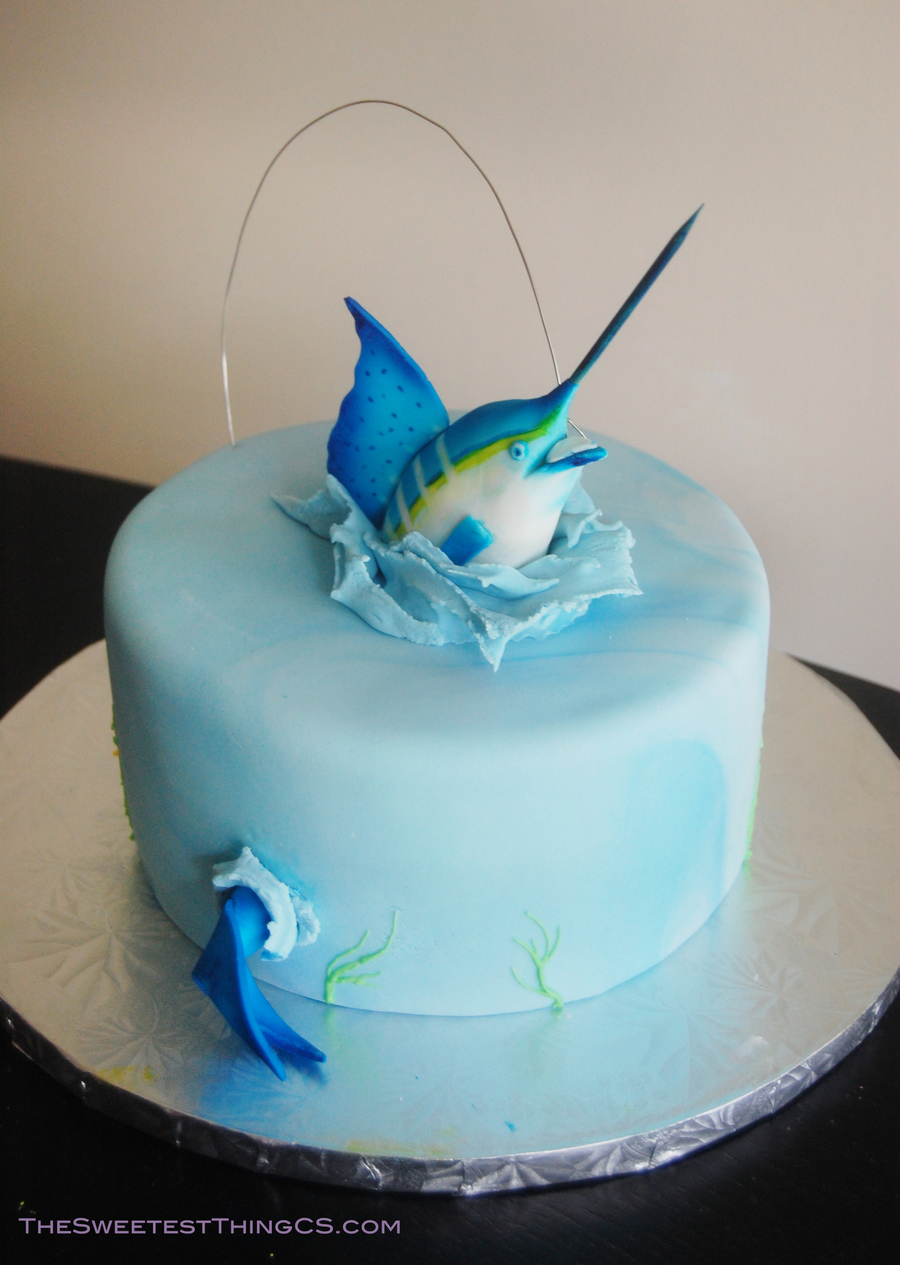 Marling Fishing Birthday Cake CakeCentralcom