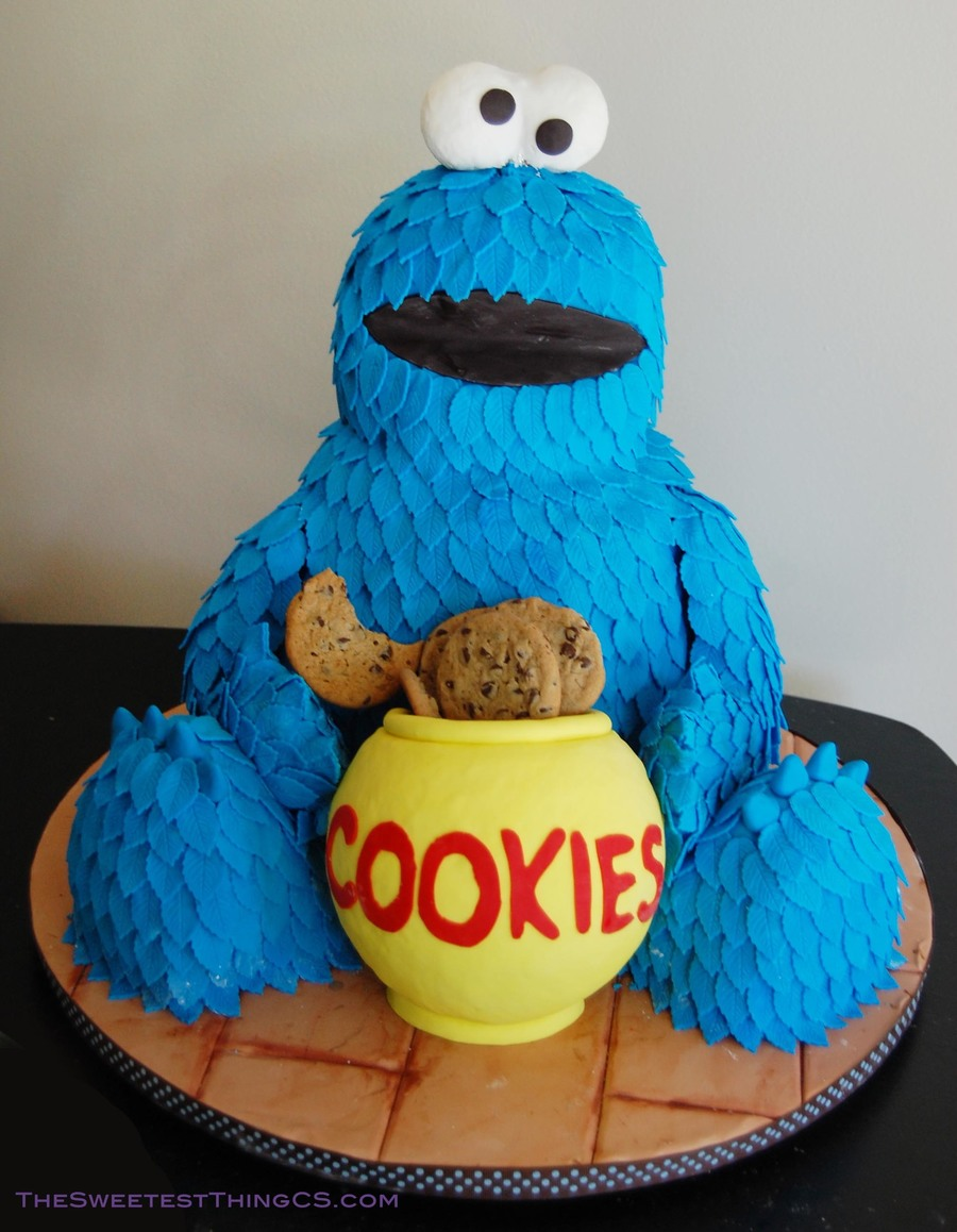Pleasant Cookie Monster Birthday Cake Cakecentral Com Funny Birthday Cards Online Elaedamsfinfo