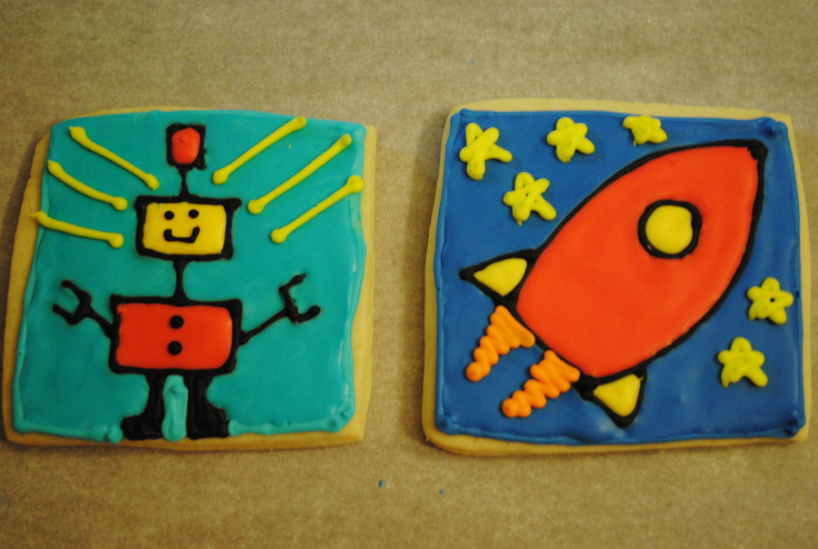 Rocket And Robots  on Cake Central