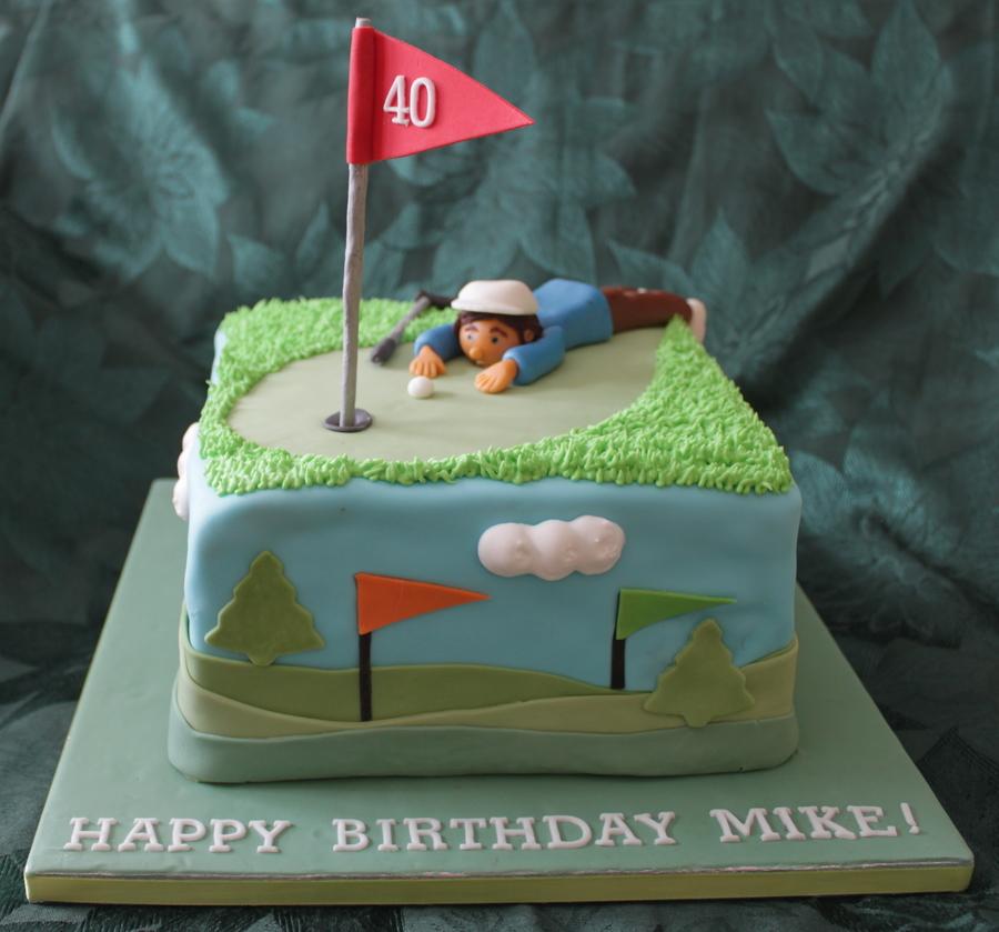 Fabulous 40Th Birthday Golfer Cakecentral Com Funny Birthday Cards Online Eattedamsfinfo