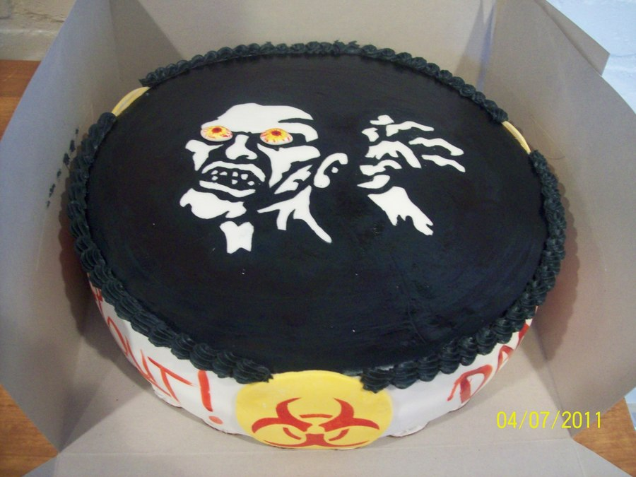 Zombie Cake For Video Gamer on Cake Central