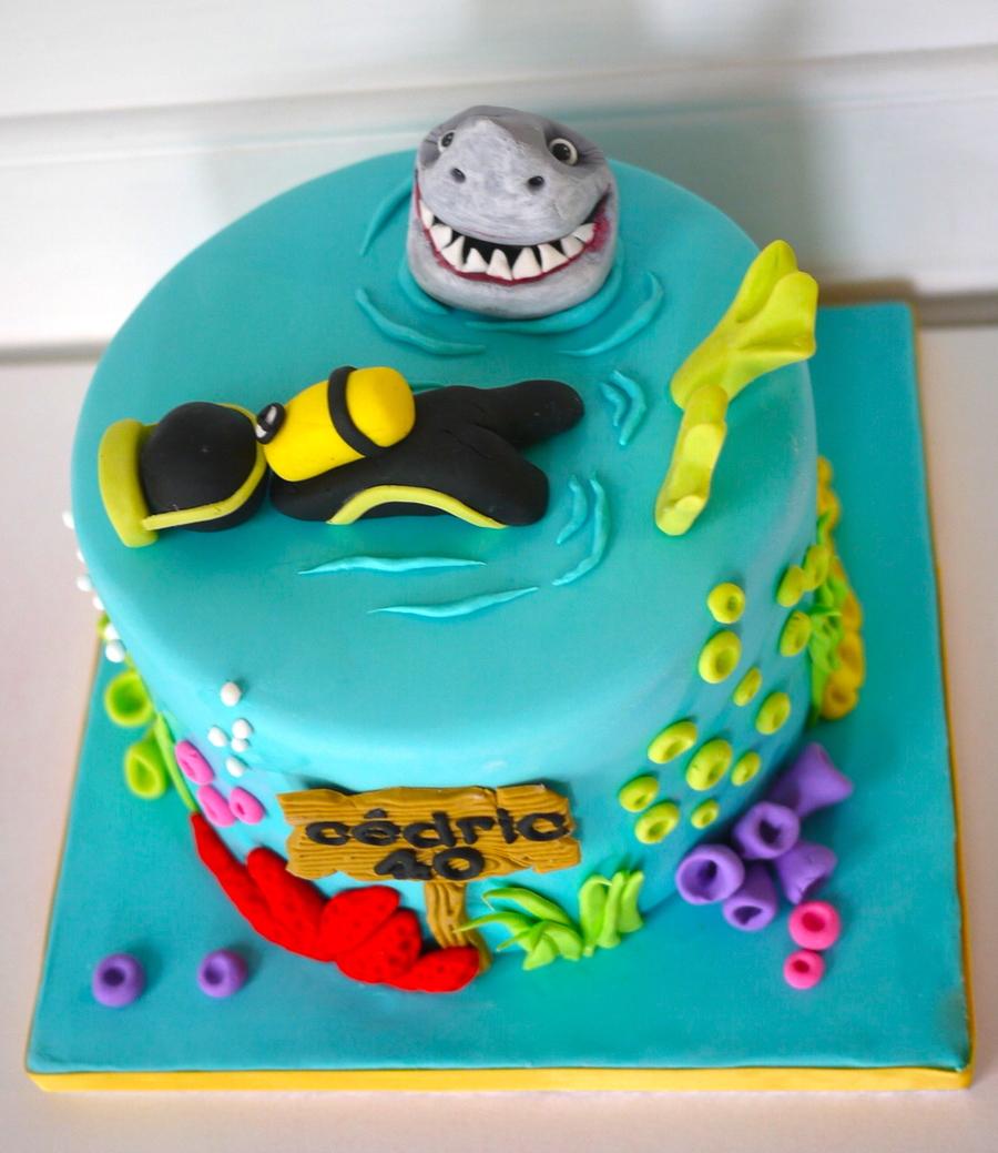 Scuba Diving Cake Decorations