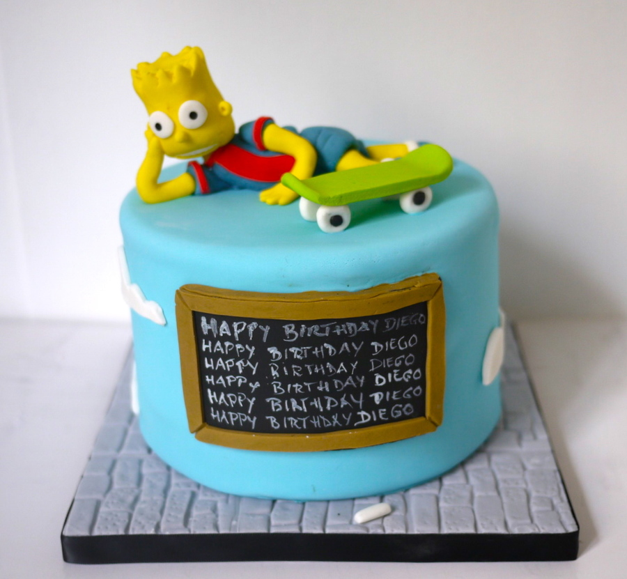 Bart Simpson Cake Cakecentral Com