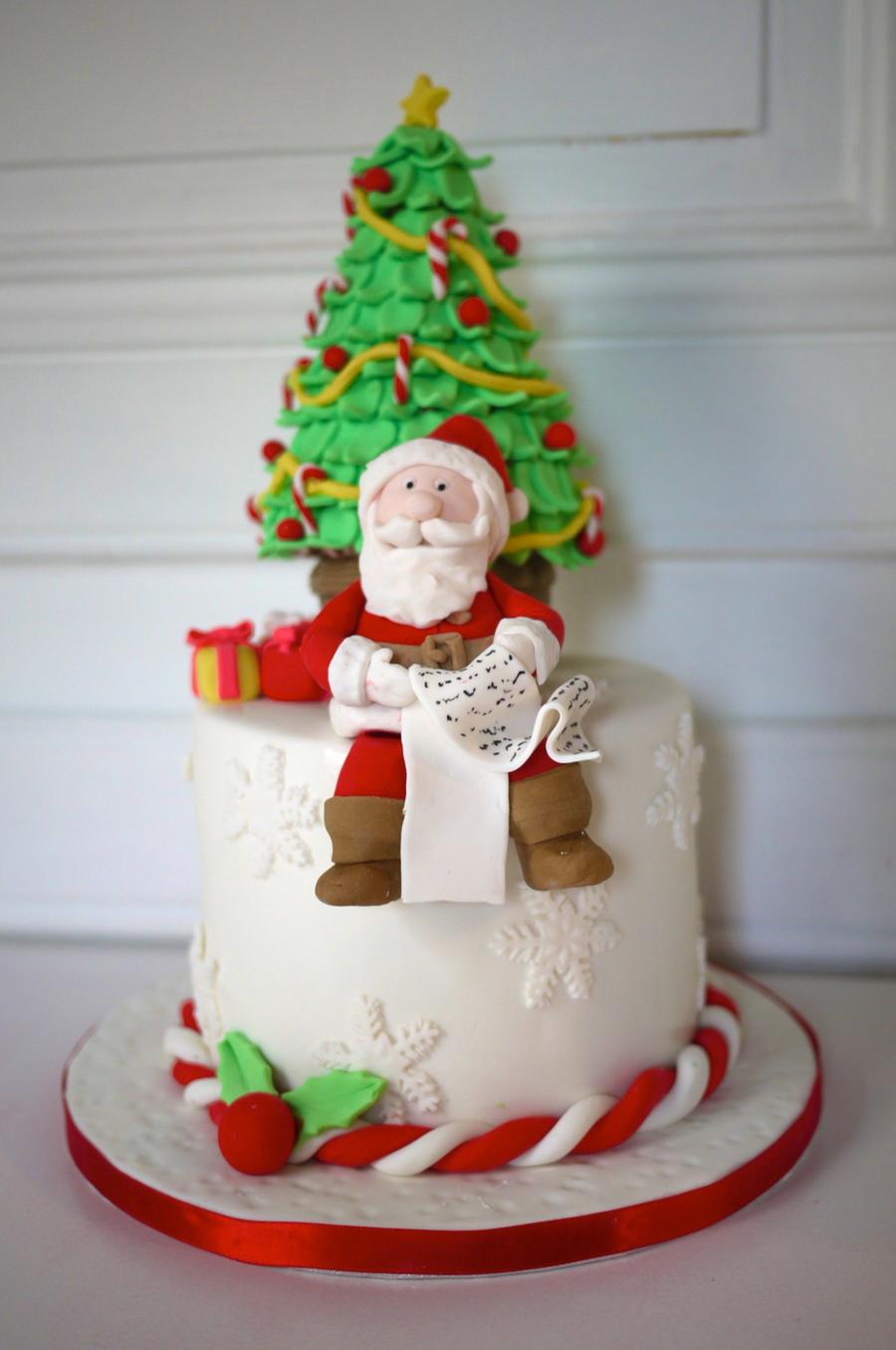 Christmas Cake Decoration Santa : Santa Cake - CakeCentral.com