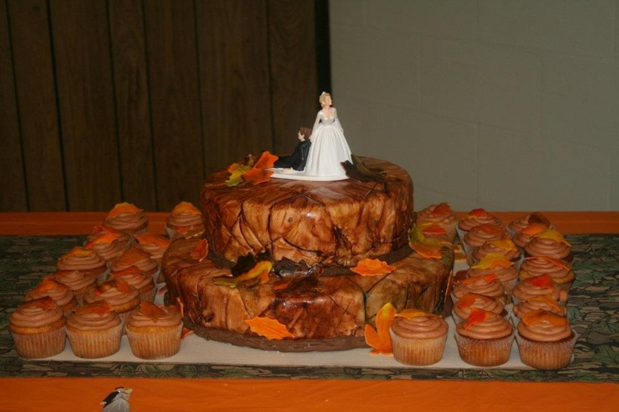 Camo Wedding And Tree/fall Leaves Cake on Cake Central