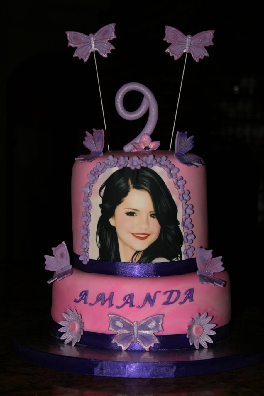 Strange Selena Gomez Cake Cakecentral Com Funny Birthday Cards Online Drosicarndamsfinfo