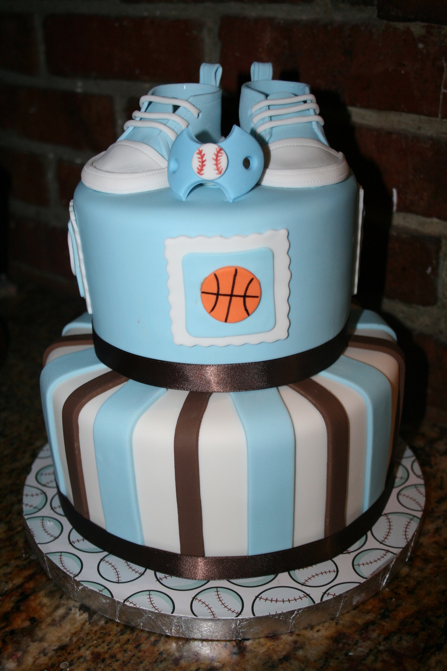 Baby Shower Cake For A Boy! on Cake Central
