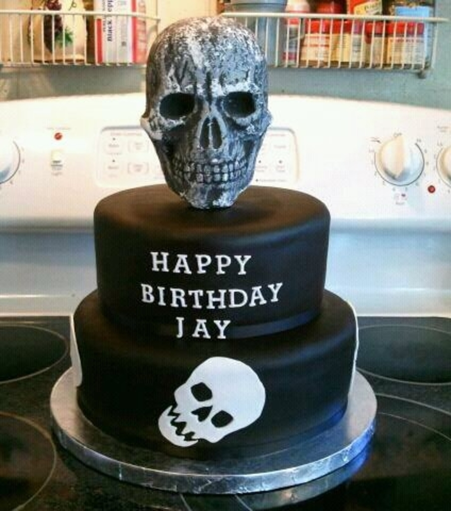 Skull Cake Cakecentral Com