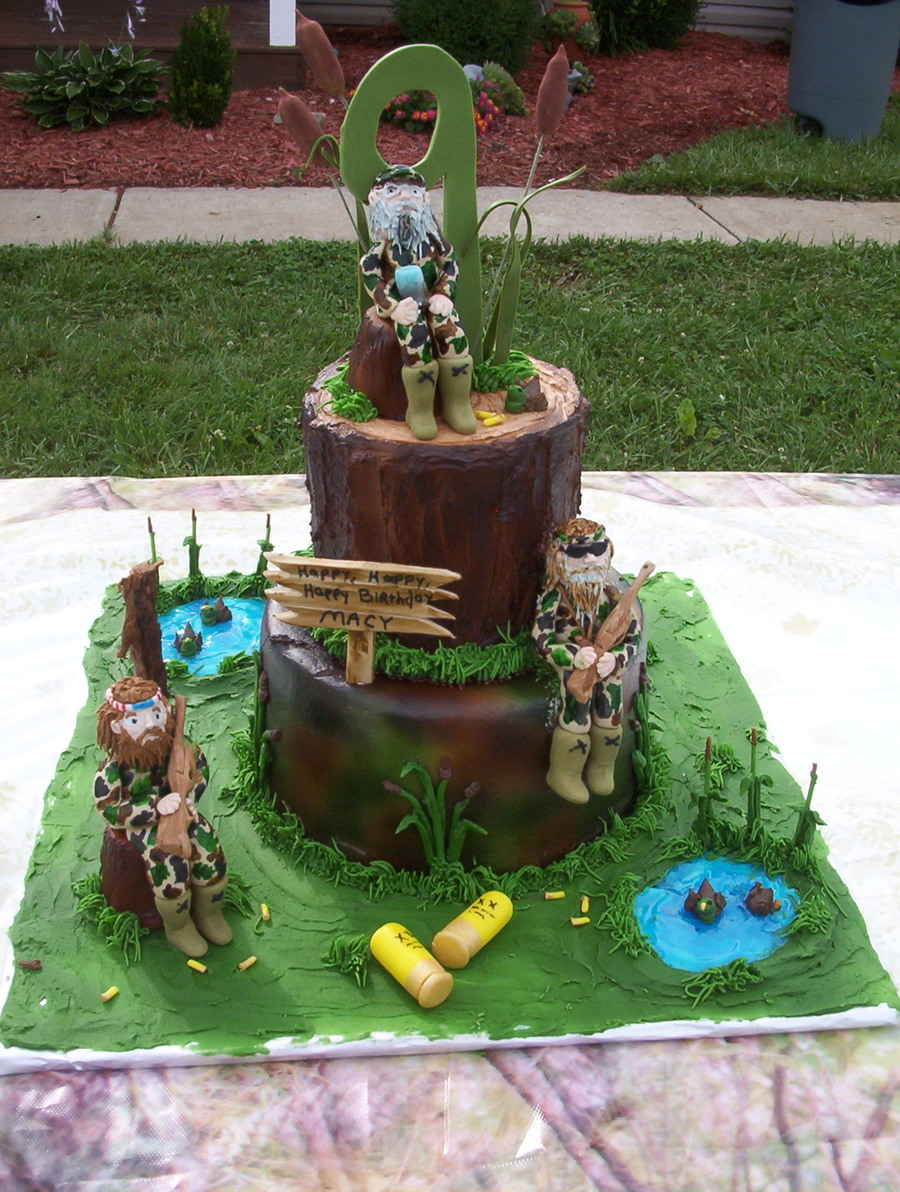 Duck Dynasty Camo Birthday Cake - CakeCentral.com