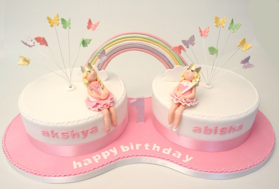 Twins St Birthday Cake
