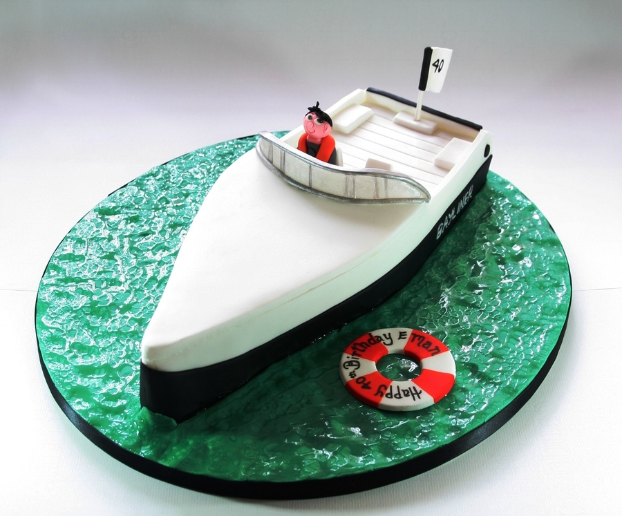 Boat Birthday Cake Images : Speed Boat Birthday Cake - CakeCentral.com