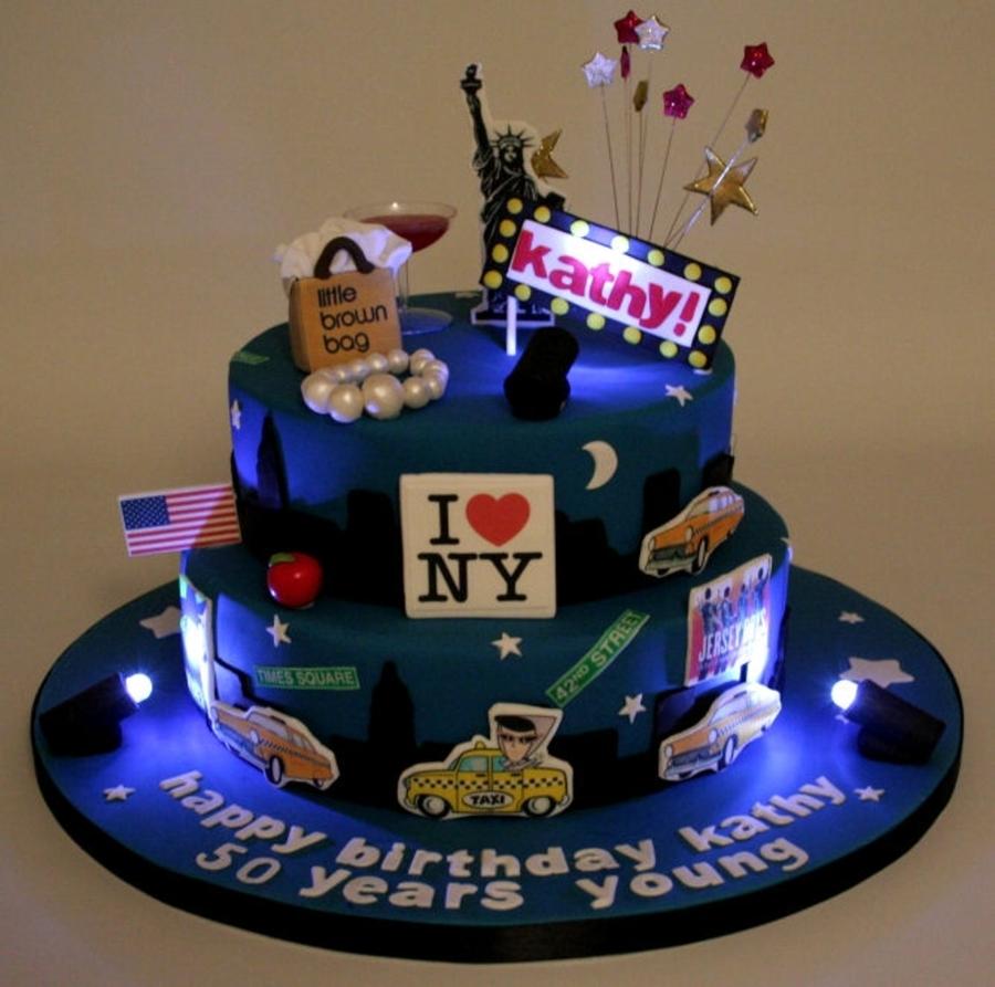 50th birthday new york skyline cake. Black Bedroom Furniture Sets. Home Design Ideas