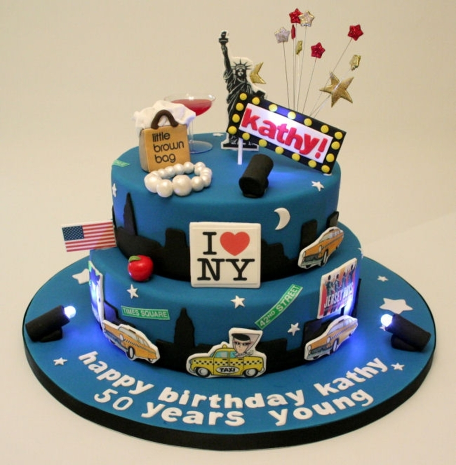 50th Birthday New York Skyline Cake Cakecentral