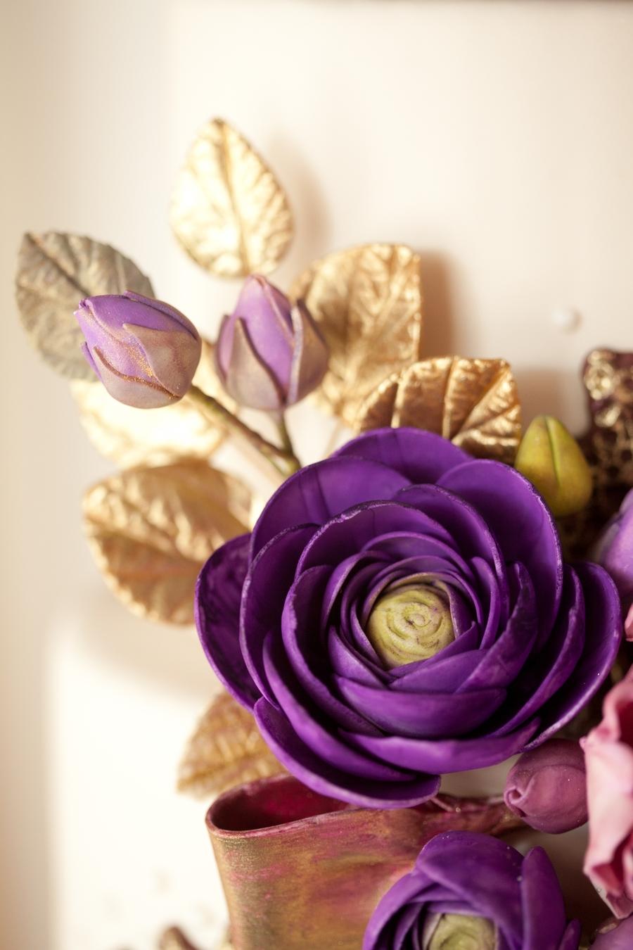 purple gold wedding cake. Black Bedroom Furniture Sets. Home Design Ideas