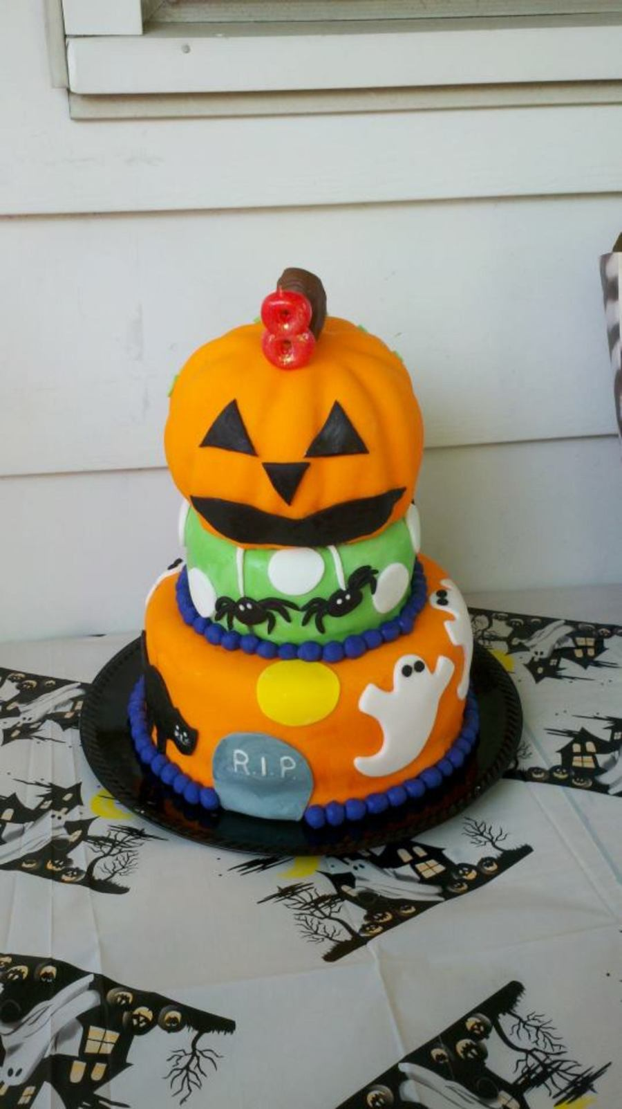 3 Tier Halloween Cake on Cake Central