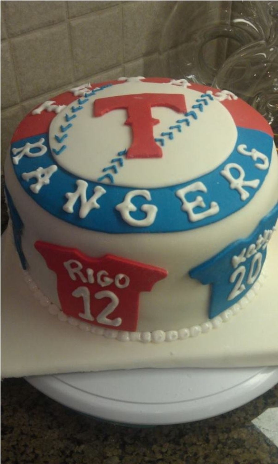 Texas Rangers Birthday Cake  on Cake Central