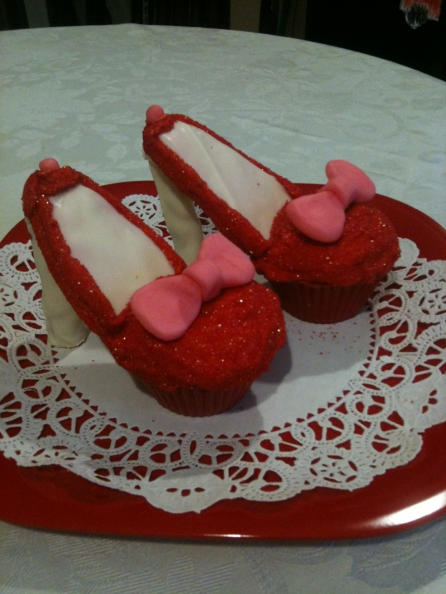 Dorothy Style Red High Heels on Cake Central