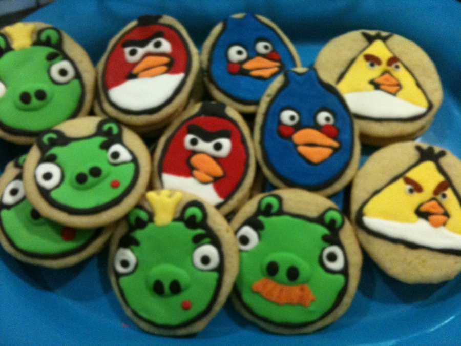 Angry Bird Cookies on Cake Central