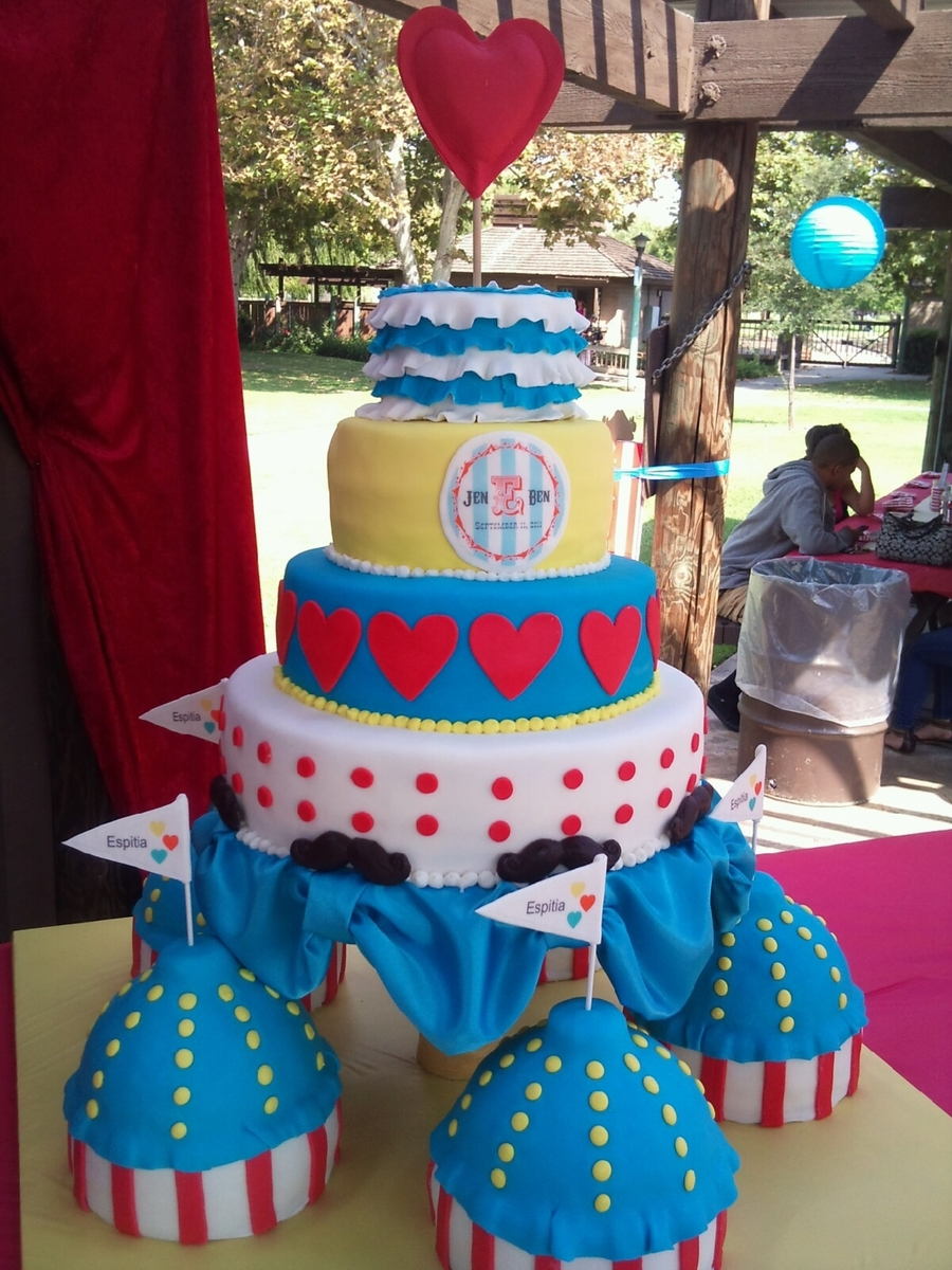 Carnival Wedding Cake  on Cake Central