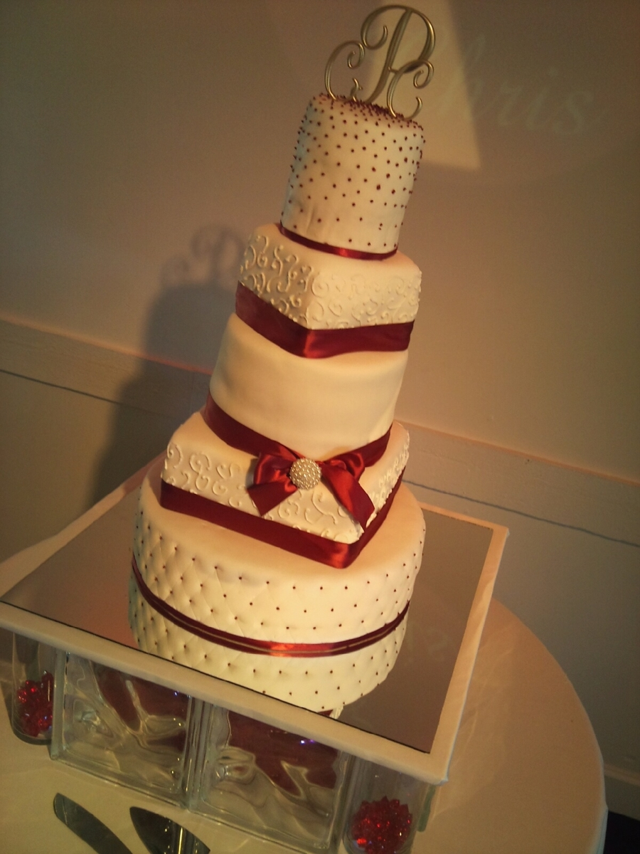 Tall Wedding Cake on Cake Central