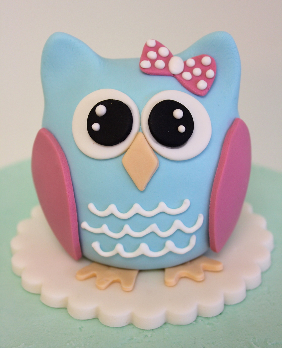 Owl Baby Shower Cake Decorations