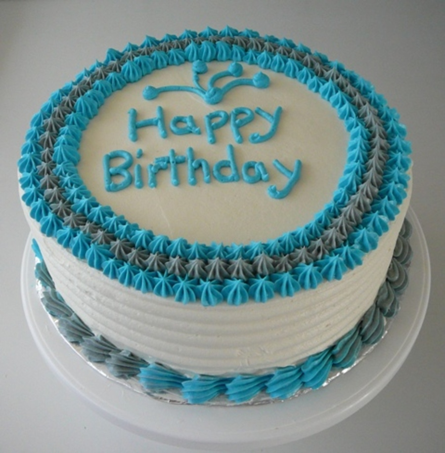 Simple Male Birthday Cake - CakeCentral.com