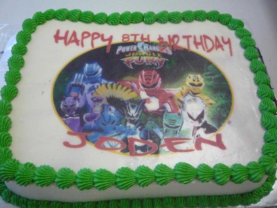 Power Rangers Jungle Fury Cake Cakecentral Com