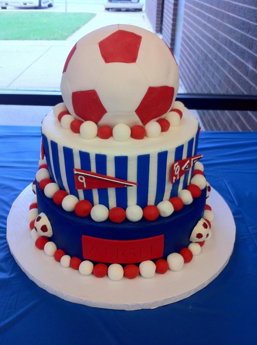 Soccer Ball Birthday Cake Decorating