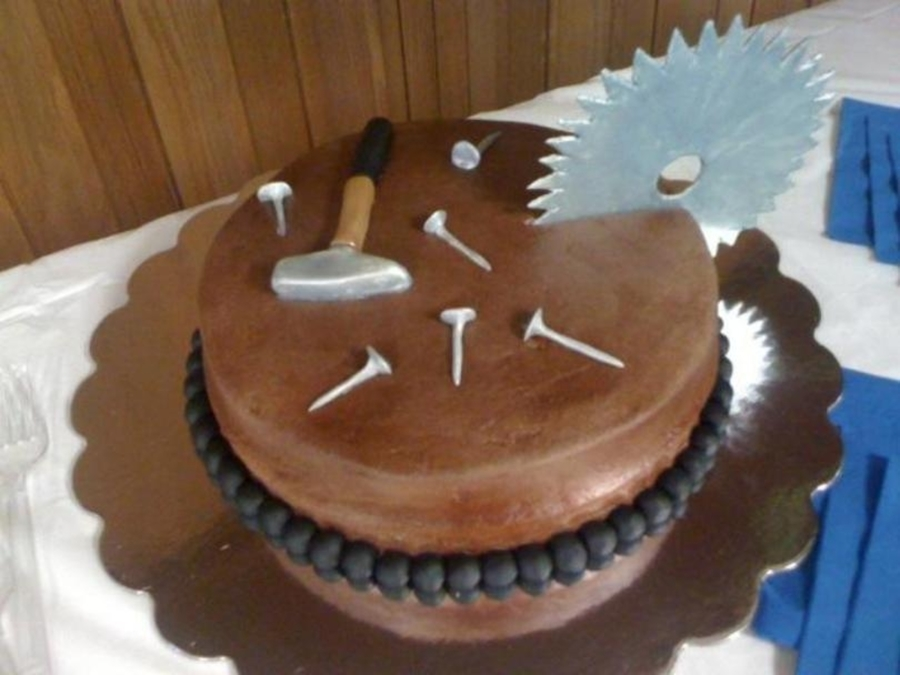 Woodworker Birthday Cake on Cake Central