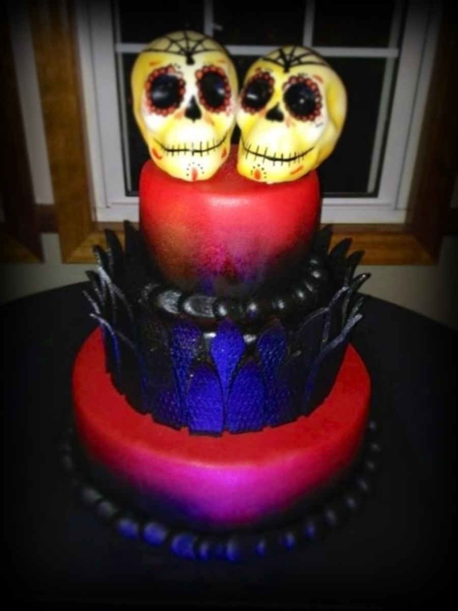 Day Of The Dead Cake on Cake Central