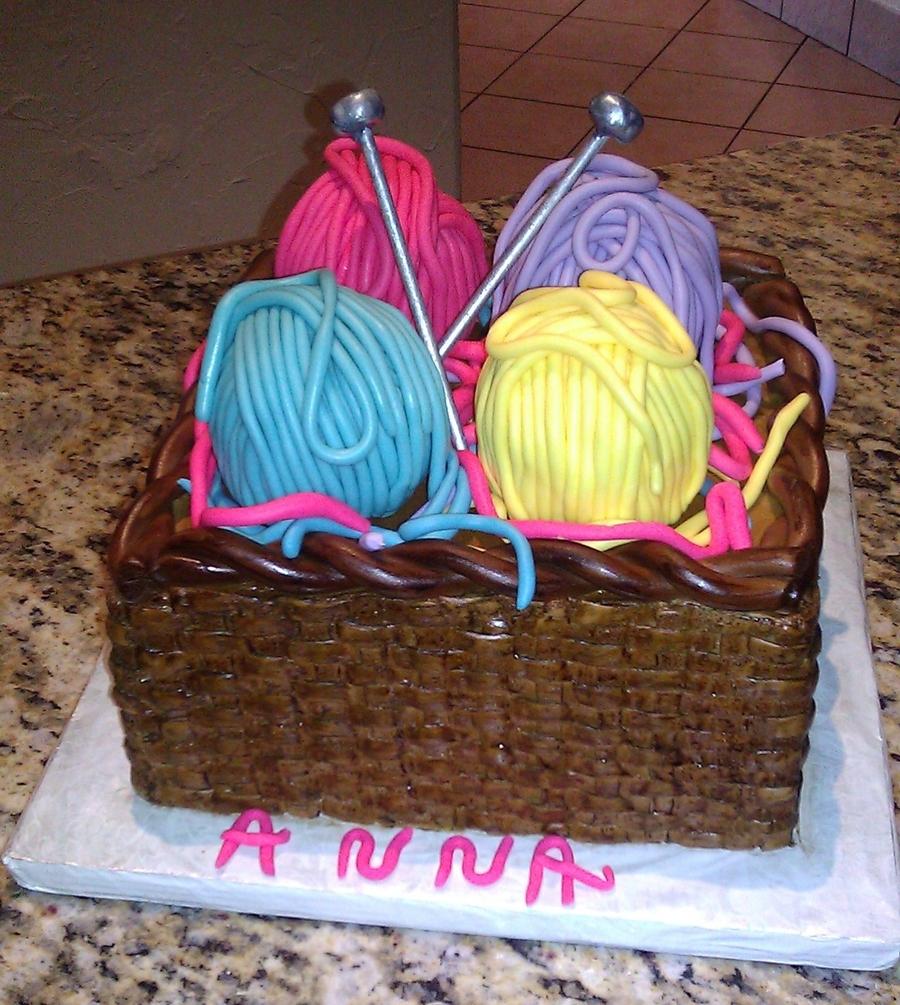 Basket Of Yarn 91St Birthday Cake