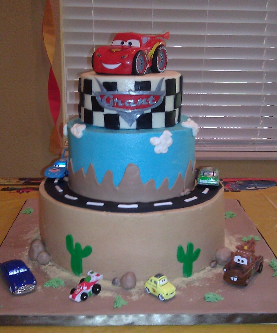 Grant's Cars Cake 4Th Birthday on Cake Central