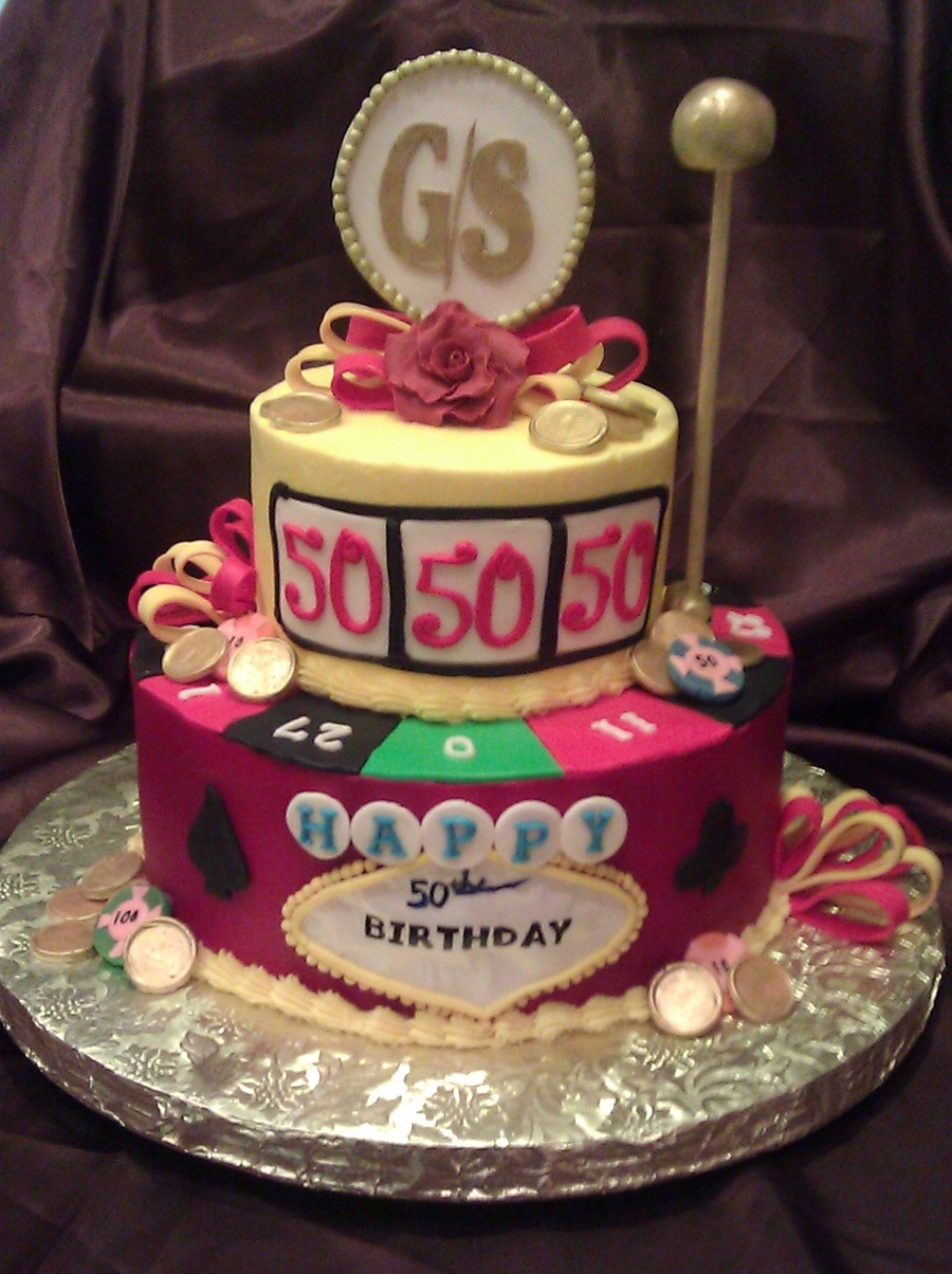 Casino 50th Birthday Cake Cakecentral