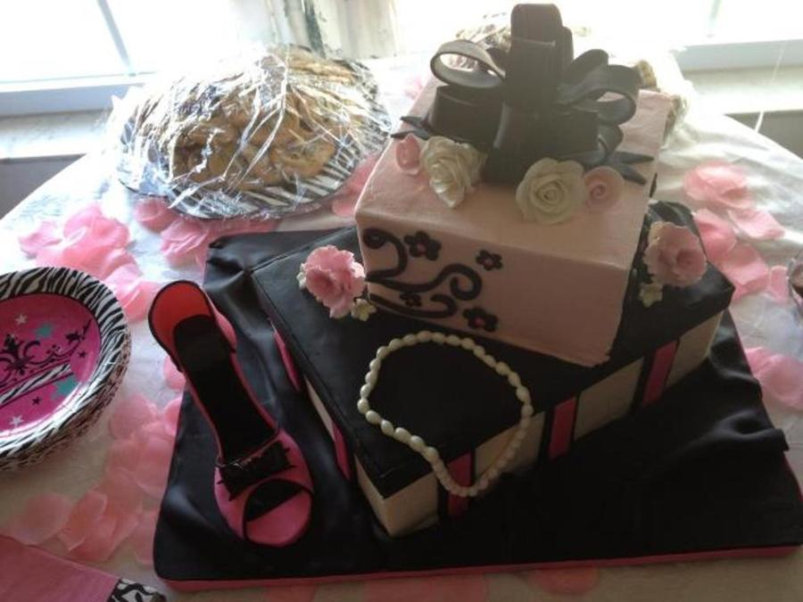 Shoebox Bridal Shower Cake on Cake Central