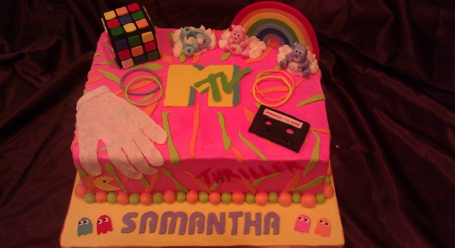 80S Birthday Cake on Cake Central