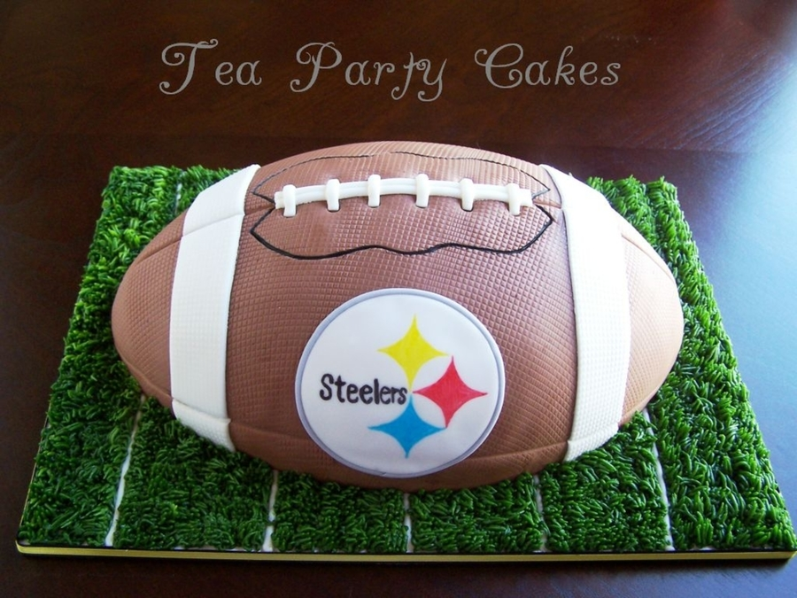 Steeler's Football Cake on Cake Central