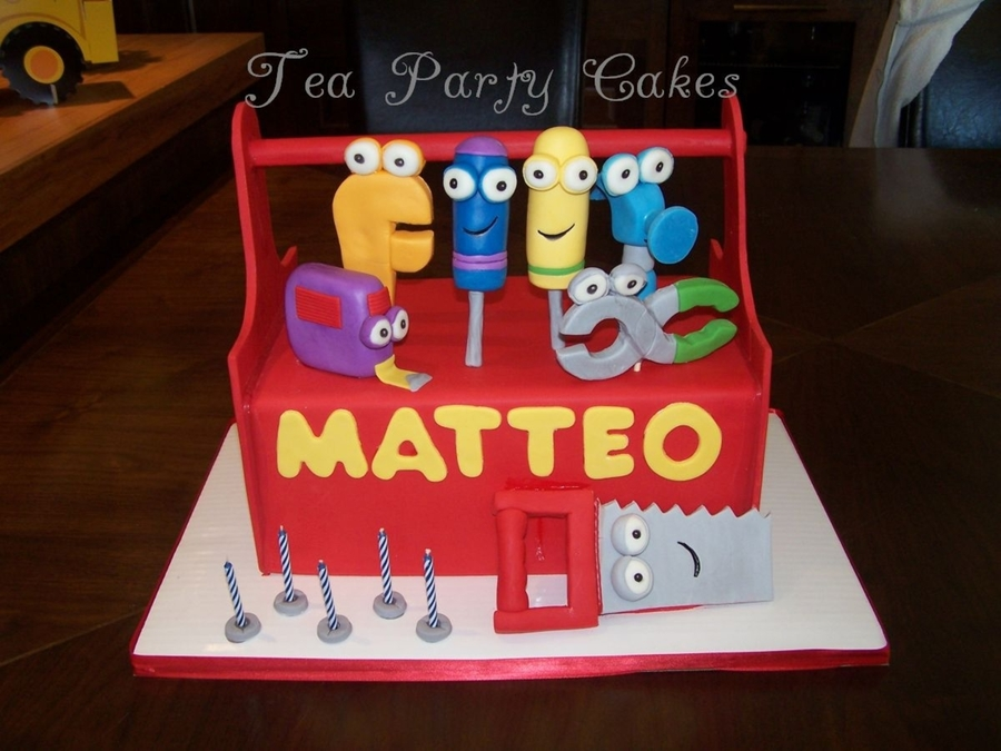 Handy Manny Toolbox Cake on Cake Central