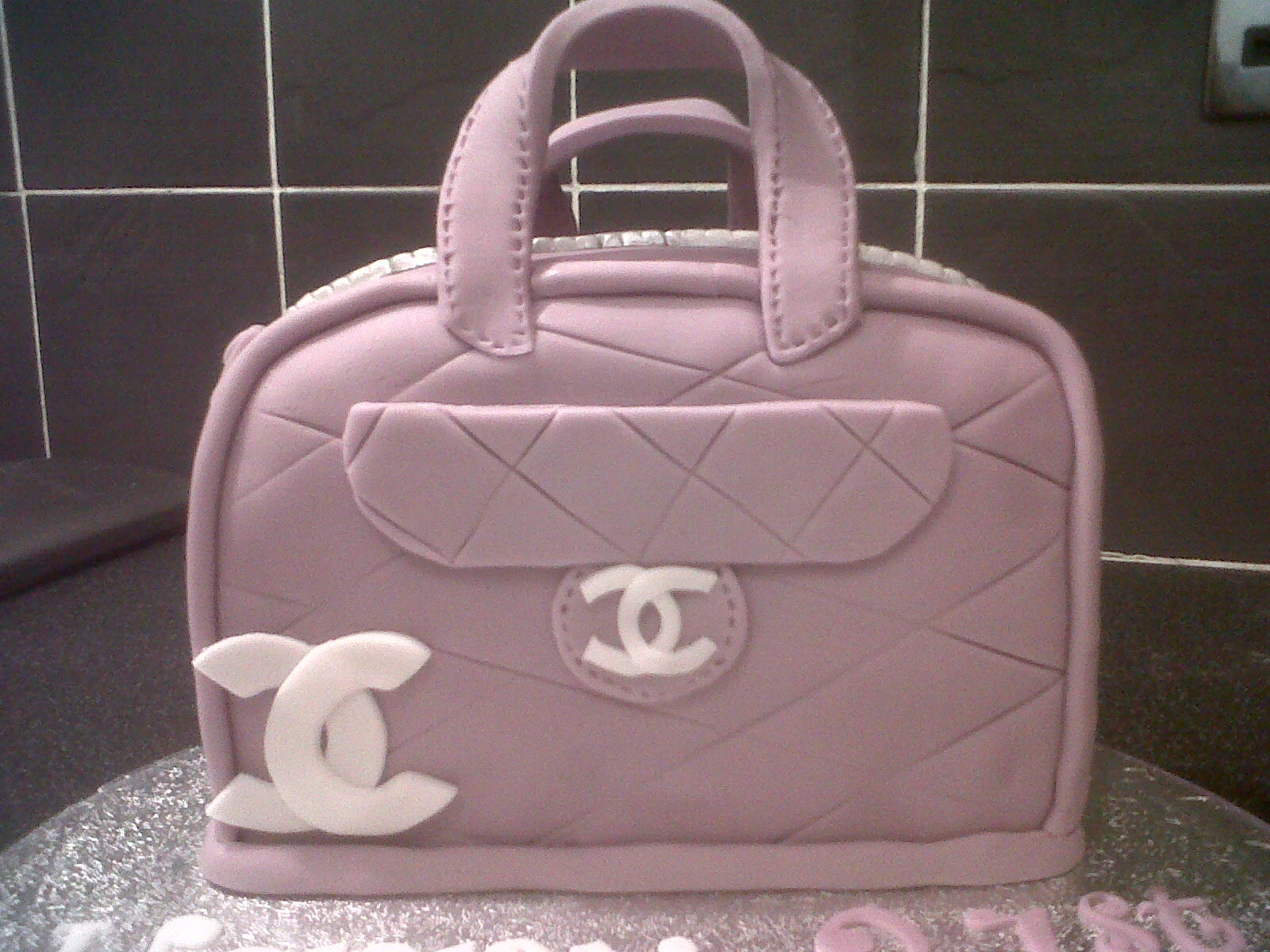 Lilac Coco Chanel Handbag Birthday Cake 21st Birthday