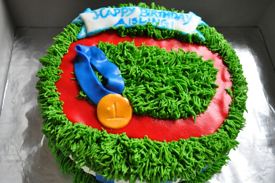 Track And Field Birthday Cake - CakeCentral.com