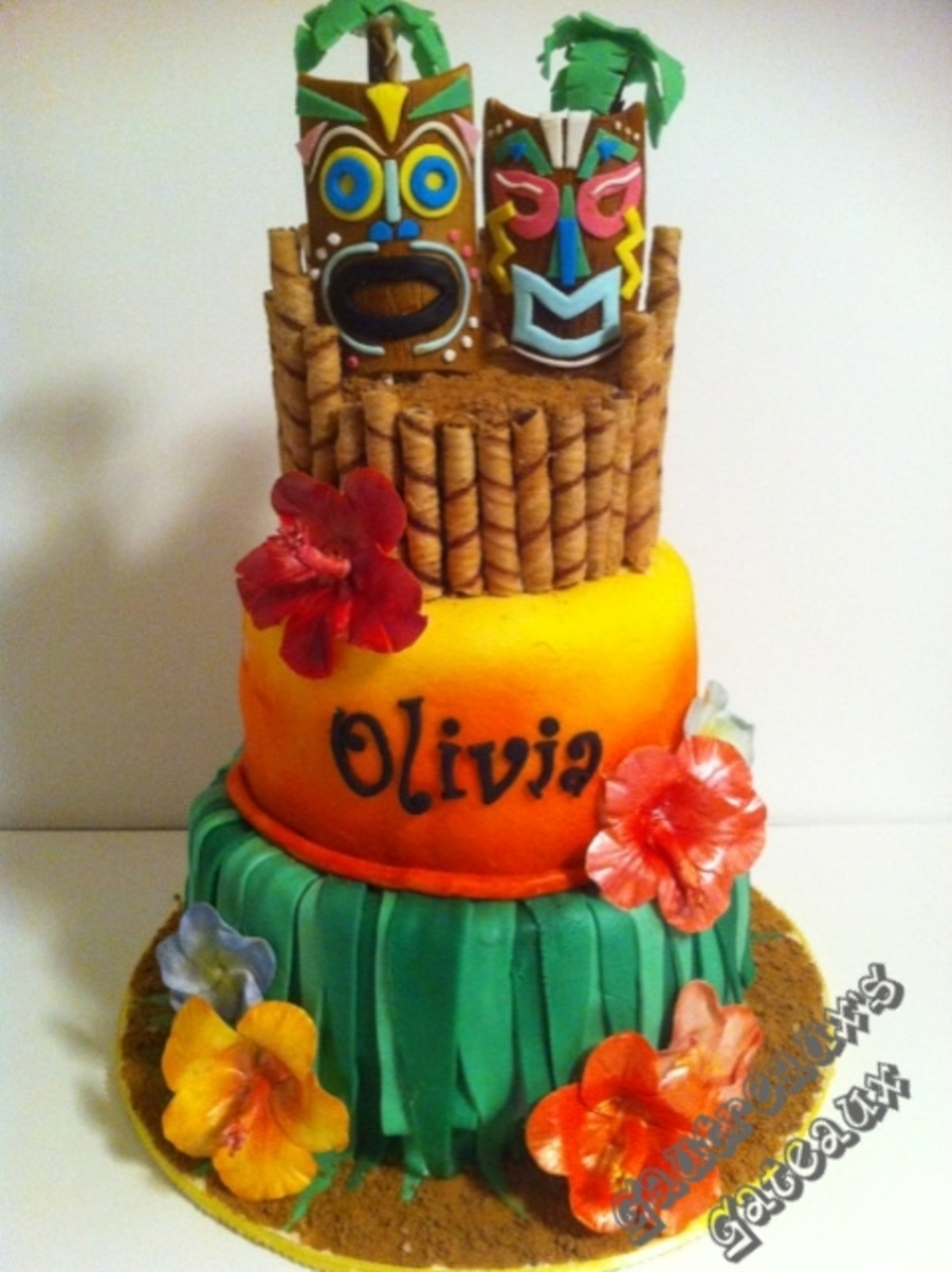 Fabulous Luau Birthday Cakecentral Com Personalised Birthday Cards Cominlily Jamesorg