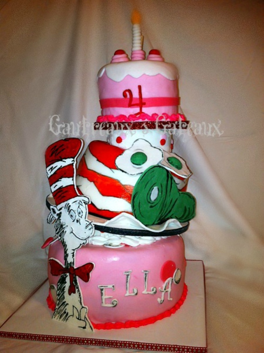Cat In The Hat And Green Eggs And Ham  on Cake Central