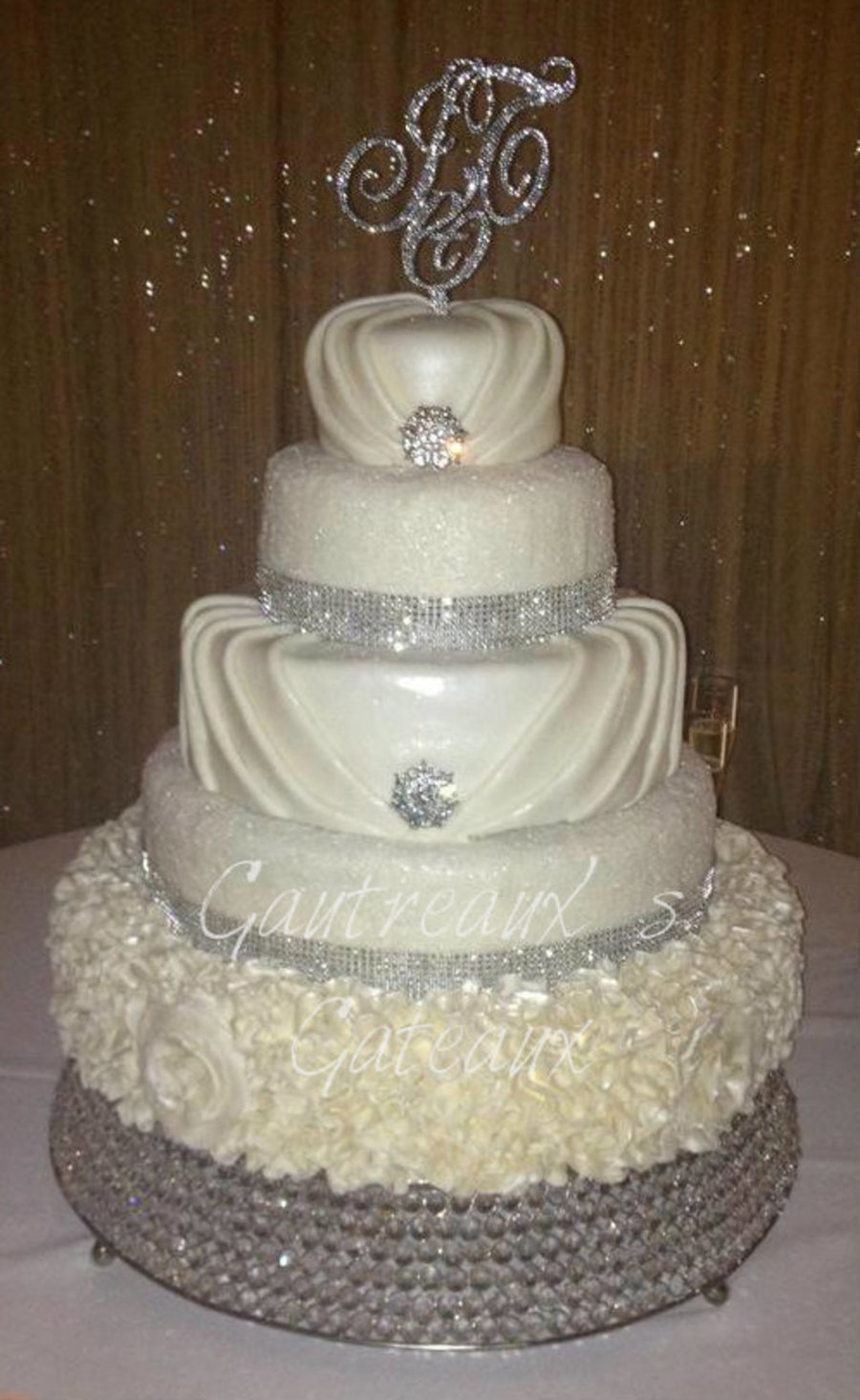 my wedding cake my wedding cake dress inspired cakecentral 17682