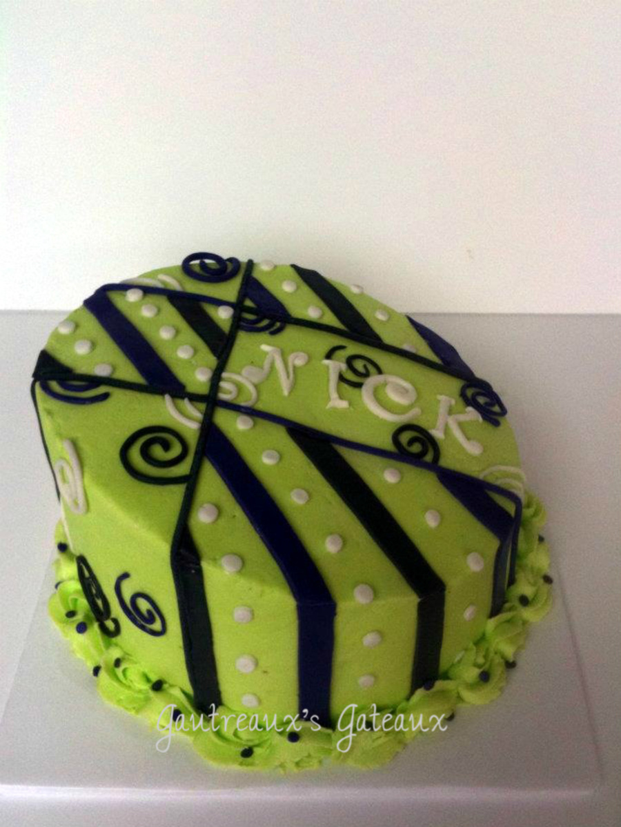 Groovy Green Birthday on Cake Central