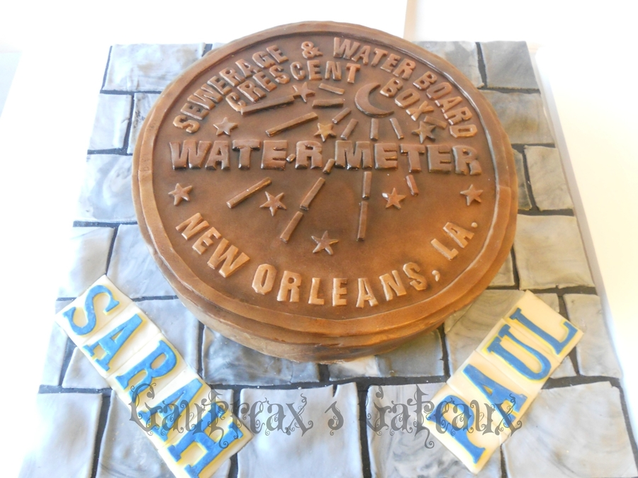 New Orleans Water Meter Bridal Shower on Cake Central