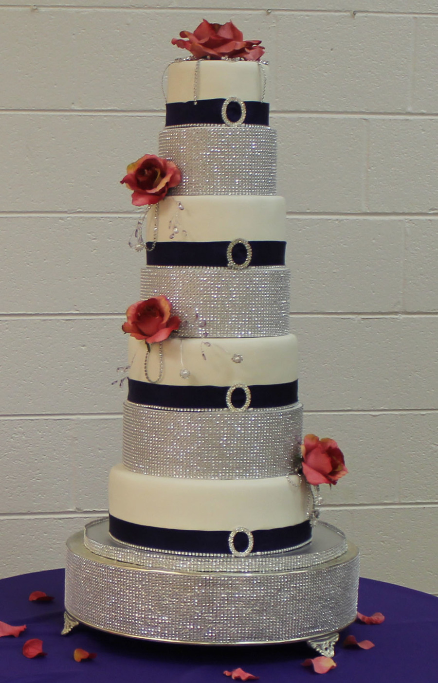 This Is A Bling Cake That I Did For A Wedding  on Cake Central